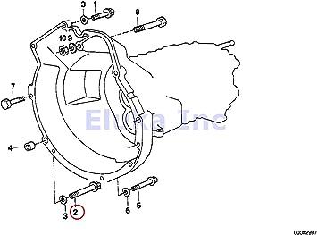 BMW Genuine Torx Bolt 525i 318i 318is 318ti 320i 323i 325i 325is 328i M3 M3 3.2 525i 528i 530i 320i 323Ci 323i 325Ci 325i 325xi 328Ci 328i 330Ci 330i 330xi X5 3.0i 525i 530i 535i 535xi 535xi 135i M C Manual Transmission Bellhousing To Engine 12 X 90 Mm