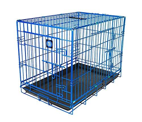 bluee 24InchJAMES & STEEL My Pet Dog Crate, Purple, 24Inch