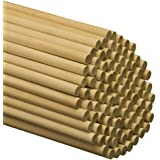 """Wooden Dowel Rods – 1/2"""" x 12"""" Unfinished Hardwood Sticks – For Crafts and DIY'ers – 25 Pieces – Woodpecker Crafts"""