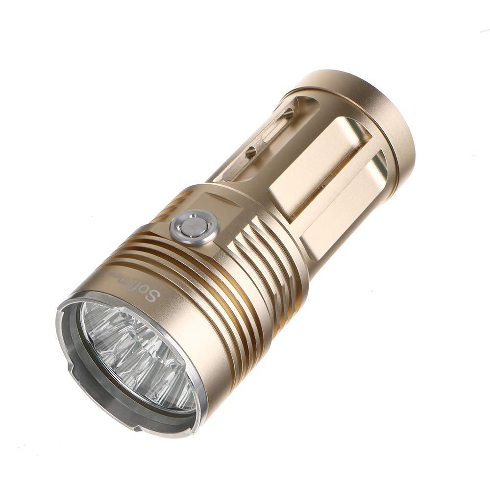 or 3T6 FAY Lampe de Poche à Del, Lampe de Poche portative, Lampe de Poche en Aluminium très Brillant, Lampe portative à 2 Modes de 2000 luPour des hommes