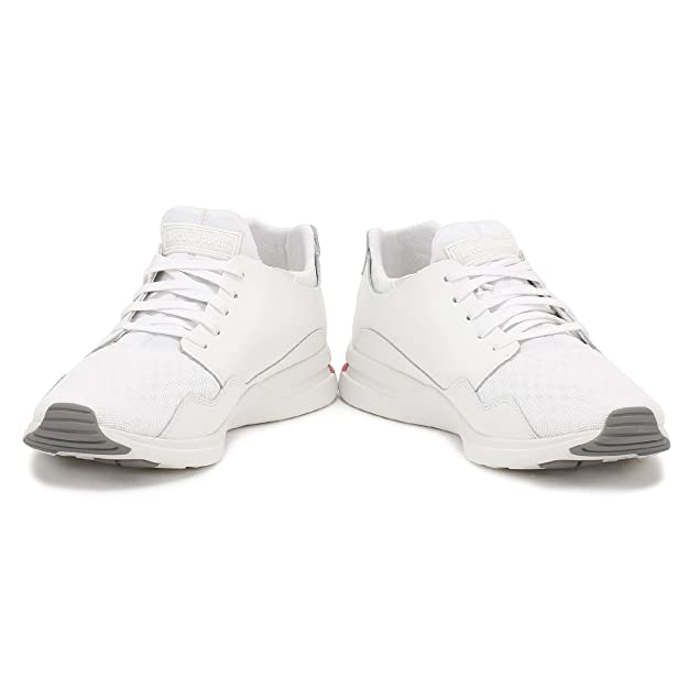 82812cd2029f Le Coq Sportif Mens Optical White LCS R Pure Trainers  Amazon.co.uk  Shoes    Bags