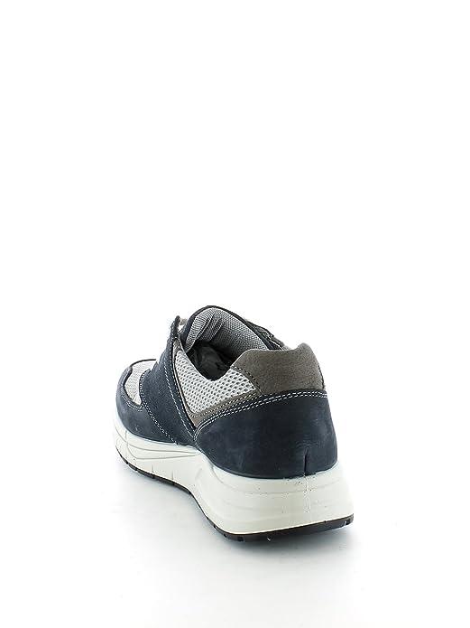 sneakers uomo nylon e camoscio blu e bianco IGI&CO 7715 XAdWuQ
