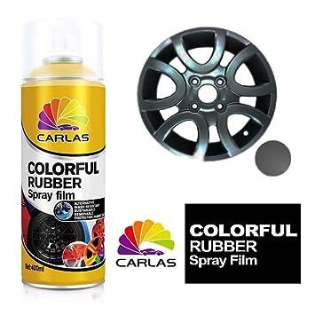 Carlas extraíble de goma ruedas de aleación de revestimiento de pintura en spray película - gris - Paneles: Amazon.es: Coche y moto