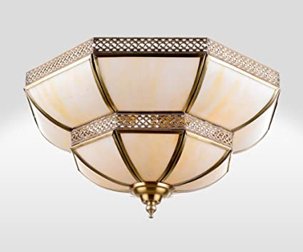 ZHDC® Lámpara de techo de cobre completa, luces de la sala ...