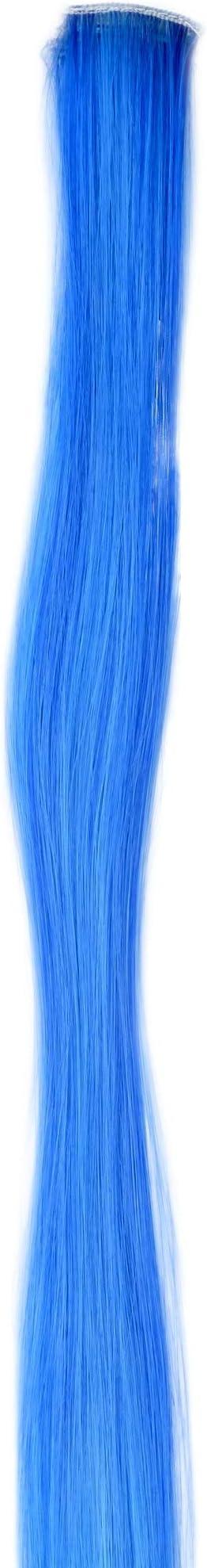WIG ME UP- Extensión de pelo con 1 clip mechón liso mezcla de azul y azul claro 45 cm / 18 inch YZF-P1S18-TF2517TTF2513B