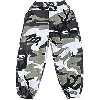 LOLANTA Pantalones Cargo de Camuflaje para niñas, Pantalones de Moda Streetwear de Cintura Alta para Adolescentes, Corte…