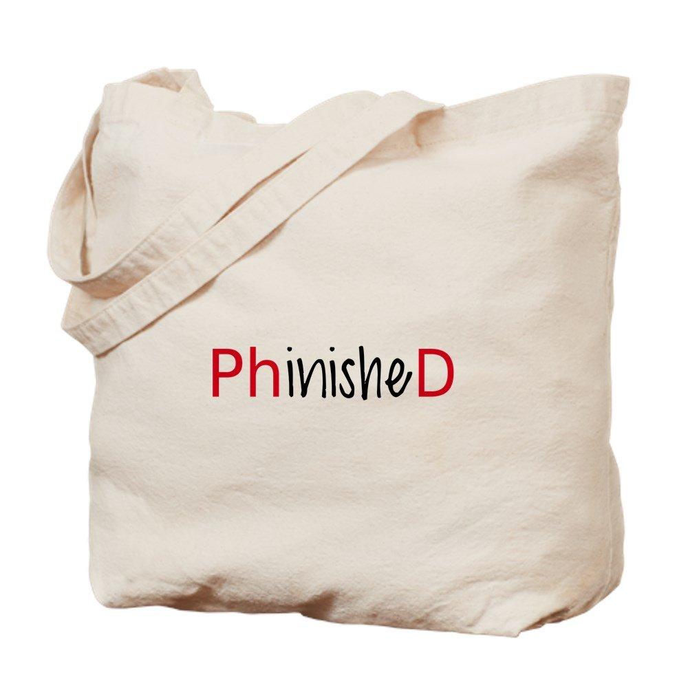 CafePress – Phinished、PhD graduate – ナチュラルキャンバストートバッグ、布ショッピングバッグ B00XJ3VRIE