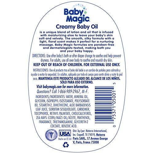 Baby magic creamy baby oil sweet baby rose 16.5 oz