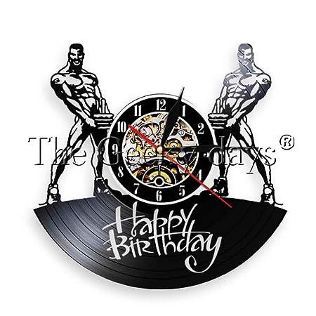 SSCLOCK 1 Pieza Feliz cumpleaños Reloj de Pared de Vinilo ...