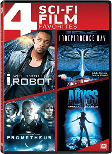 4 Sci-Fi Film Favorites (I, Robot / Independence Day / Prometheus / The Abyss (Special Edition)) ()