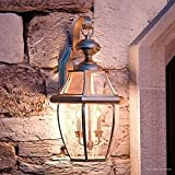 Luxury Colonial Outdoor Wall Light, Large Size: 20''H x 10.5''W, with Tudor Style Elements, Versatile Design, Classy Aged Silver Finish and Beveled Glass, UQL1145 by Urban Ambiance