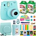 FujiFilm Instax Mini 9 Camera and Accessories Bundle - Camera, Instant Film (40 Sheets), Carrying Case, Color Filters, Photo Album, Stickers, Selfie Lens + MORE