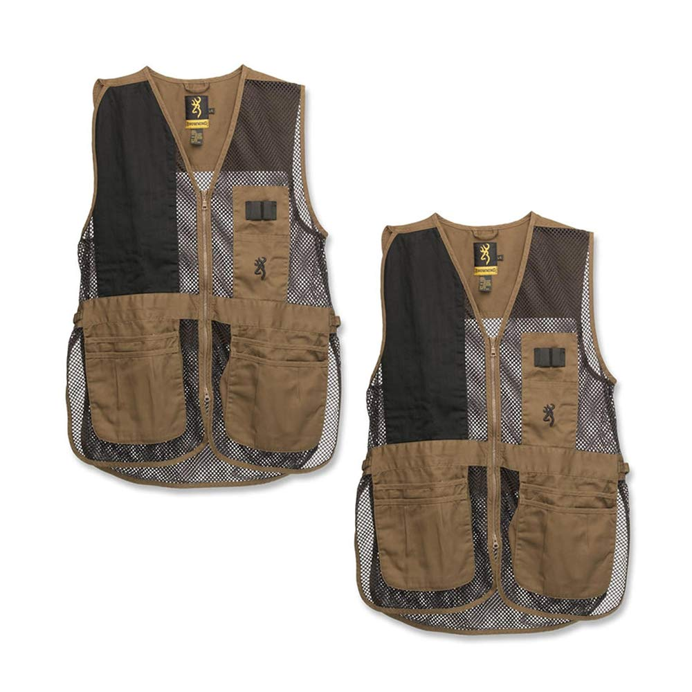 Browning, Trapper Creek Vest, Clay/Black, XXX-Large (2 Pack)