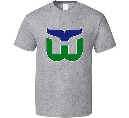 Amazon.com  The Village T Shirt Shop Hartford Whalers Retro Hockey ... 6e52ee284