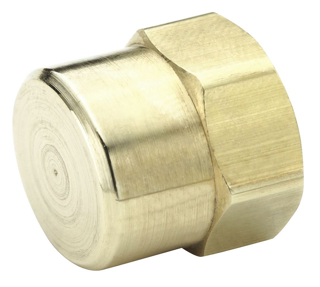 Parker 213P-12-pk5 Pipe Fitting, Pipe, Brass, Female Pipe Cap, 3/4'' (Pack of 5)