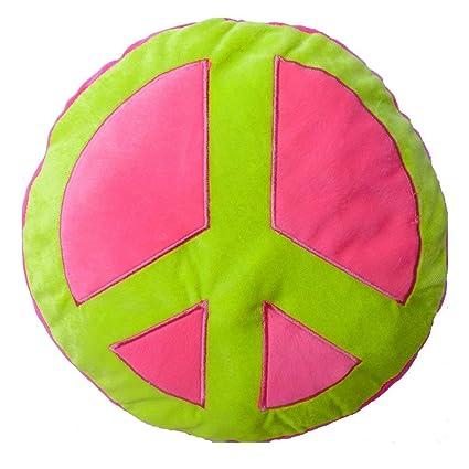 Amazon.com: Adventure Planet Peace Sign Plush Pillow - Pink ...