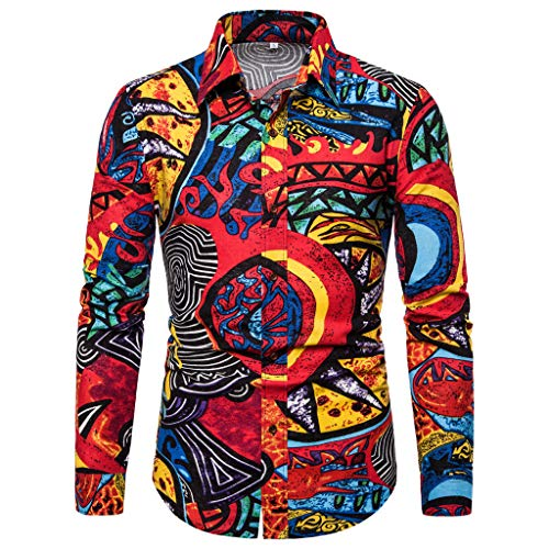 LEKODE Men Shirt Fashion Business Leisure Tee Printing Long Sleeve Top Blouse(Multicolor,L(3XL)) - Navy Seal Embroidered Sweatshirt