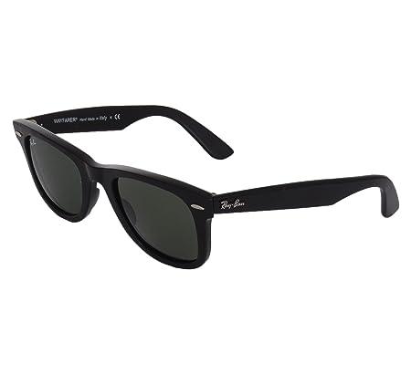 Ray-Ban Unisex Original Wayfarer Sunglasses, Black G- Classic Green ... bb0d2eef9b56