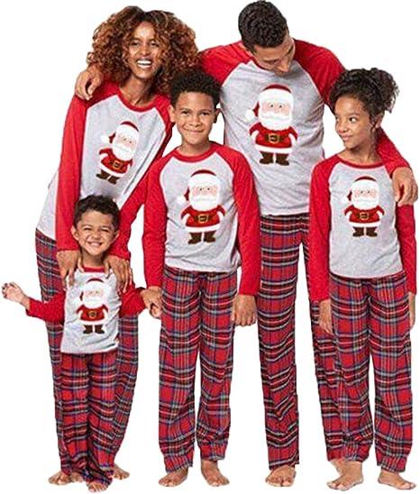 Kinder SAMGU Weihnachten Schlafanzug Familien Pyjama Set Lang Tops+Hosen Strampler Neujahr Zweiteiliger f/ür Vater Mutter