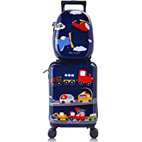 iPlay, iLearn Kids Carry On Rolling Luggage, Hard Shell Travel Upright Suitcase Boys Children