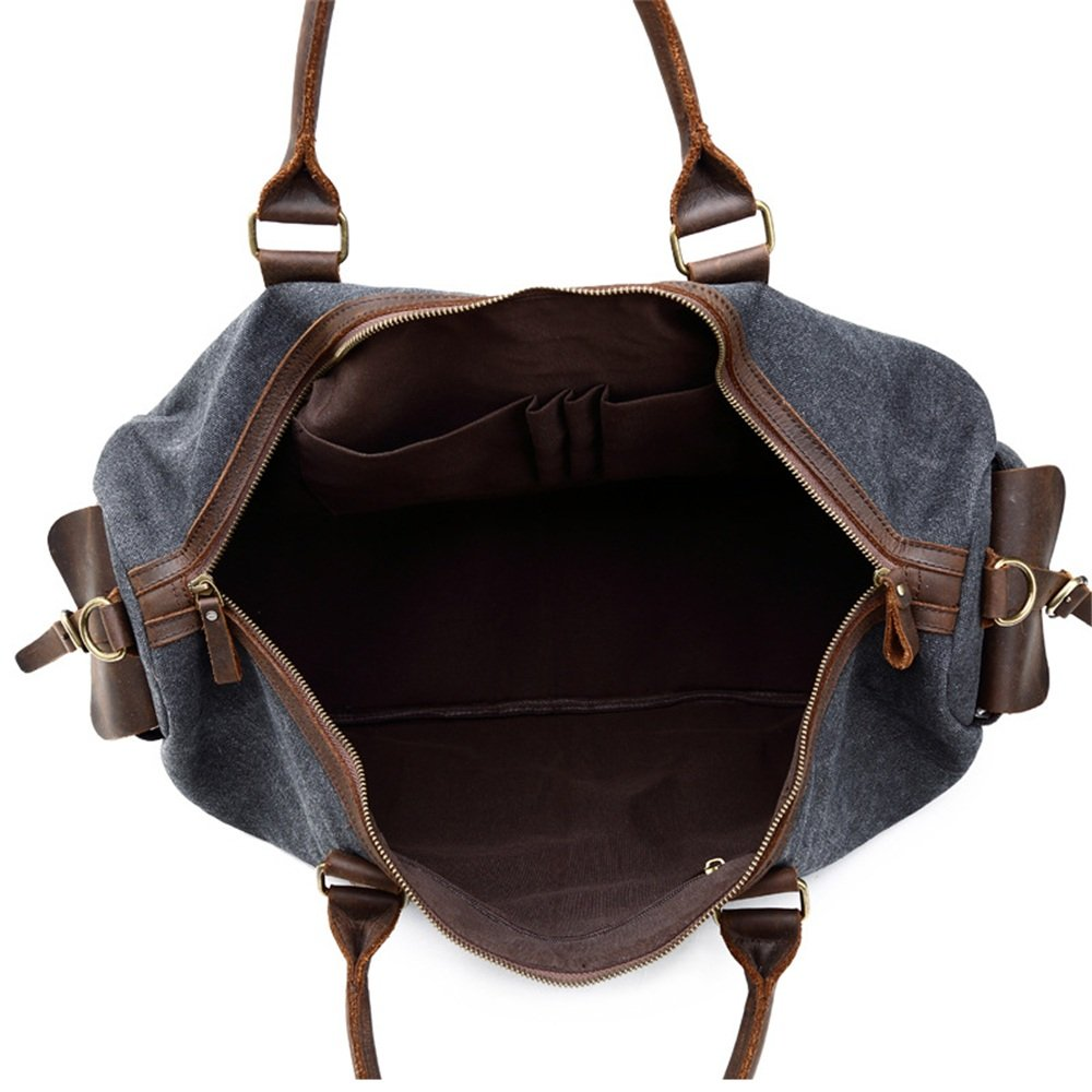 Color : Blue Travel Bag and Antique Travel Bag Gym Sports Luggage Bag Leather Handbag Travel Duffel Canvas Large Capacity Travel Bag