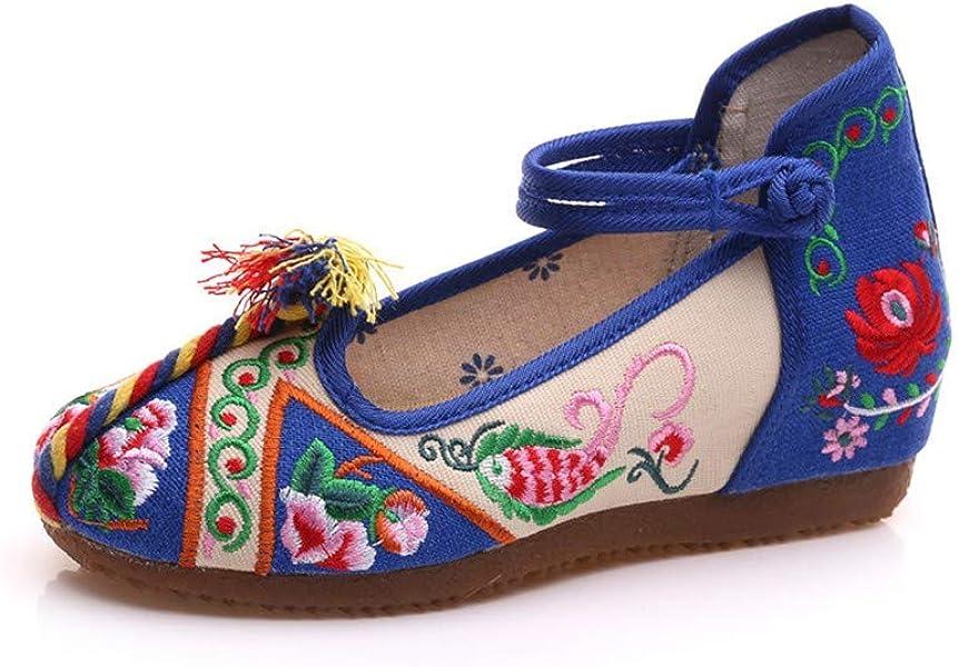 Bordado Zapatos/Alpargatas/ Merceditas/Zapatos de Ocio Nacional Zapatos de Tela de Viento