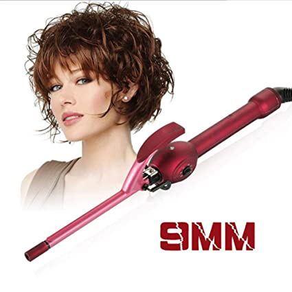 CICO 9Mm Mini Curling Iron, Small Barrel Curling Tongs, Professional Tourmaline Ceramic Curling Wand