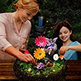 HDNICEZM Fairy Garden Accessories Kit - Miniature Solar Flower Stump and Figurine Hand Painted Set for Fairy, Animal…