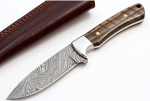 BUCKNBEAR KNIVES BNB137198 Damascus Drop Point Classic Hunter Knife, 4 Inch Blade