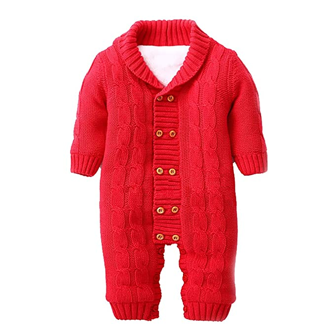 3caef688f Amazon.com  LSERVER Infant Newborn Baby Christmas Sweater One Piece ...