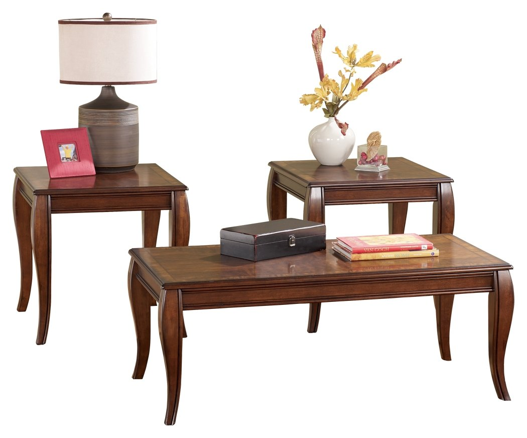 Ashley Furniture Signature Design - Mattie Occasional Table - Set of 3 - Reddish Brown by Signature Design by Ashley