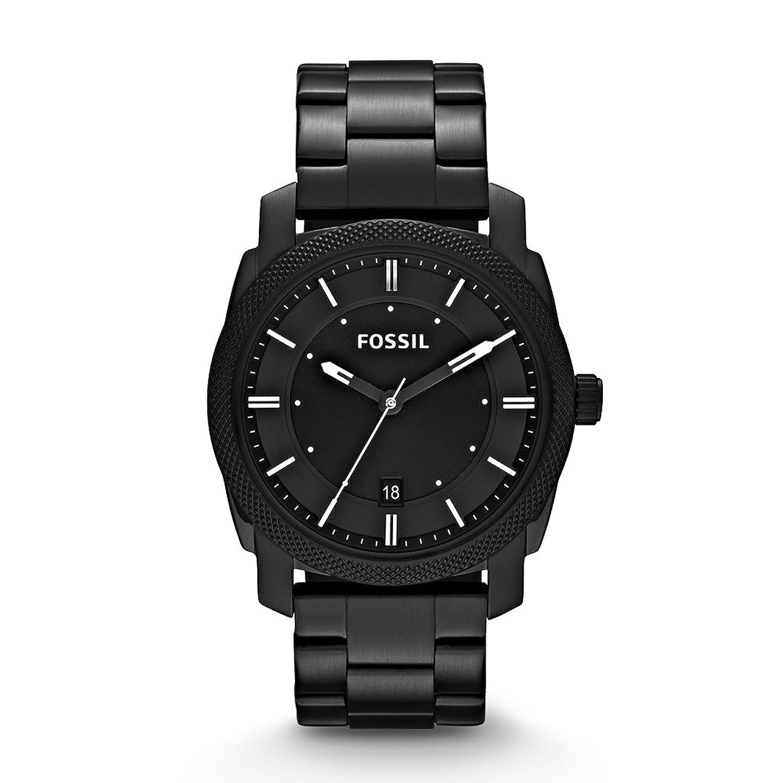 Wrist watch on discount - Fossil Fs4775 Machine Three Hand Stainless Steel Watch Black