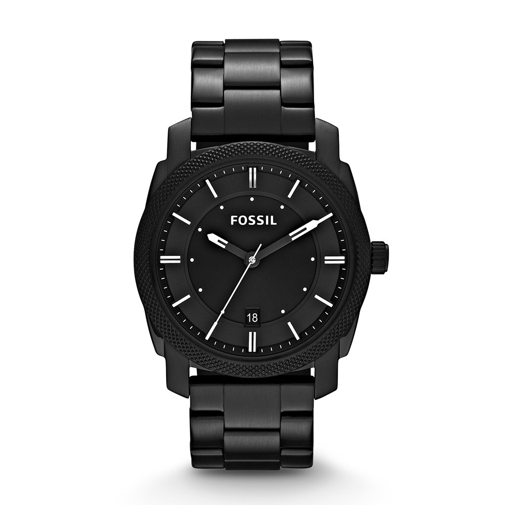 Fossil Men's 42mm Machine Black IP Stainless Steel Dress Watch