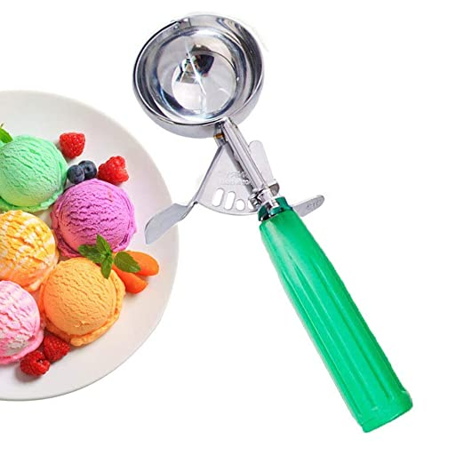 Cucharas para helado, cuchara para galletas con gatillo para ...