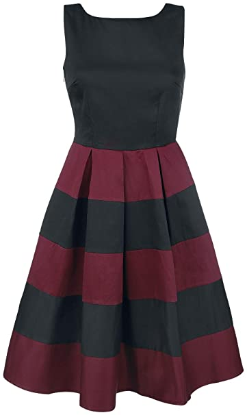 Dolly and Dotty Big Stripes Vestidos de Longitud Media Negro/Rojo XL: Amazon.es: Ropa y accesorios