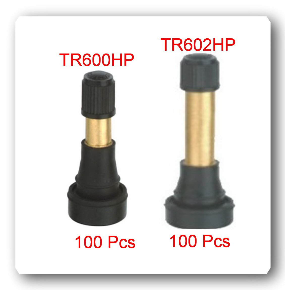 LOT200 SNAP-IN TIRE VALVE STEM 100 x TR600HP (50 x TR602HP) High Pressure Tire Wheel Valve Stems Heavy Duty Tire Valve Stem by VPro