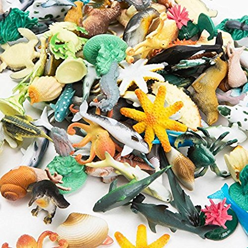- Fun Express Under The Sea Plastic Sea Life Creatures (180 Pieces)
