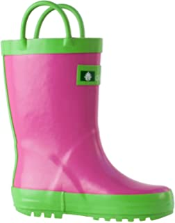 89a37991 Oakiwear Rain Boots For Kids Boys Girls Waterproof Rubber Boots For Toddlers  Children Shoes Handles