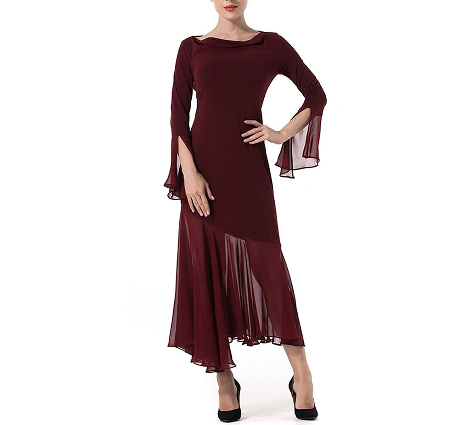 2018 s Foreign Trade Spring New European and American Solid Color Flying Sleeves Irregular he