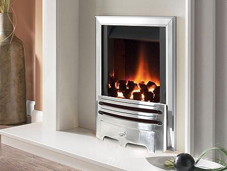 Flavel Warwick Contemporary Gas Fire Silver Amazon Co Uk Kitchen