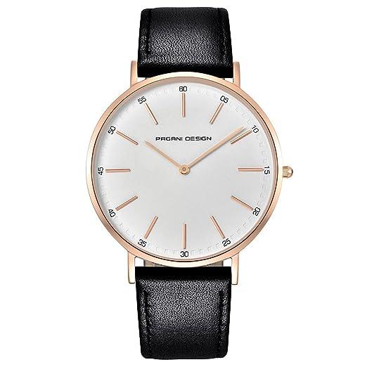 Reloj De Diseño Pagani con Cristal De Cuarzo - Reloj Impermeable - Reloj Elegante con Correa