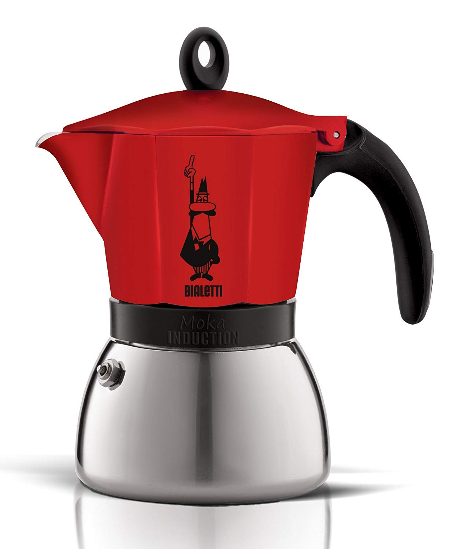 Bialetti 4923 Moka Induction Espresso Maker, Red