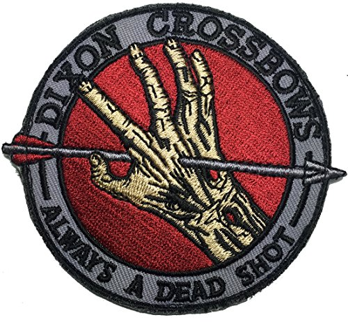 Patch Squad Men's Dead Shot Dixon Crossbows Embroidered Patch (Hook (Daryl From The Walking Dead Costume)