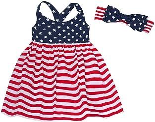 f03d4e354e4 Bonnie Jean Girls' Stars & Stripes Sundress w.