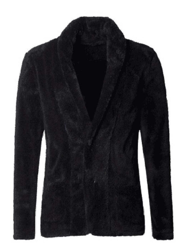 Men Jackets Winter,Men Casual Long Sleeve Button Closure Warm Plush Jacket
