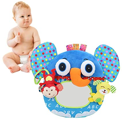 Per Peluches de Juguetes Colgantes para Cuna Bebés Colgantes Blandos de Espejo Distorsionados Juguetes Blandos Bebés