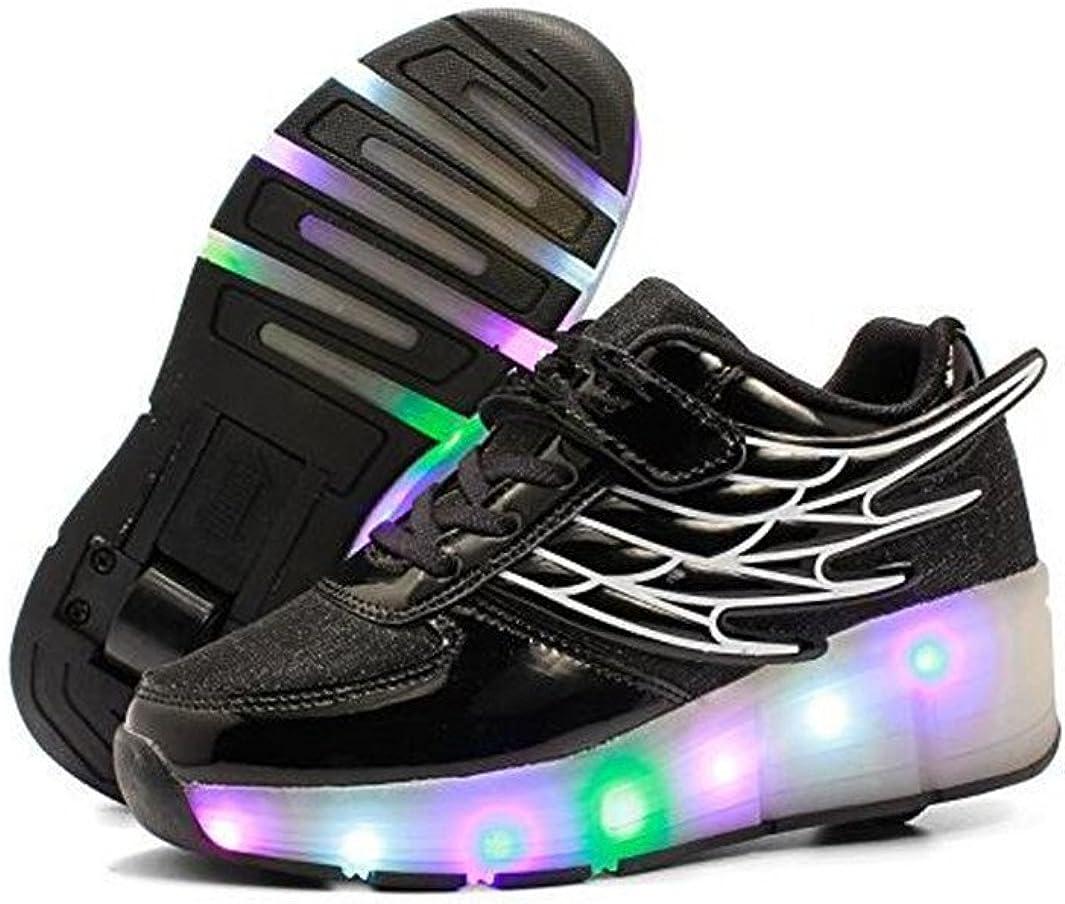 A2kmsmss5a Wings Glowing Shoes Luminous Light Up Girls LED Kids Shoes Flashing Sneaker
