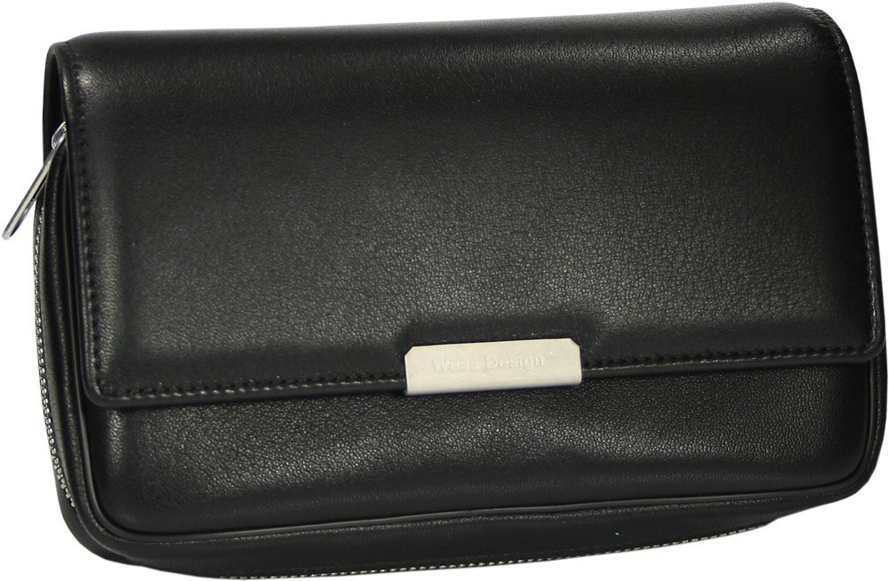 Martin Wess Germany ''Onyx'' Ultra Fine Nappa Leather 3 Pipe Bag Case