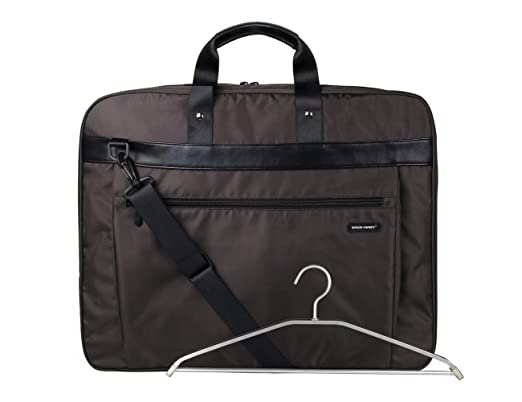68cec200bd BAGSMART Travel Carryon Folded Garment Bag for Suits and Wedding Dresses  with Shoulder Strap and Hanger, Brown: Amazon.co.uk: Clothing