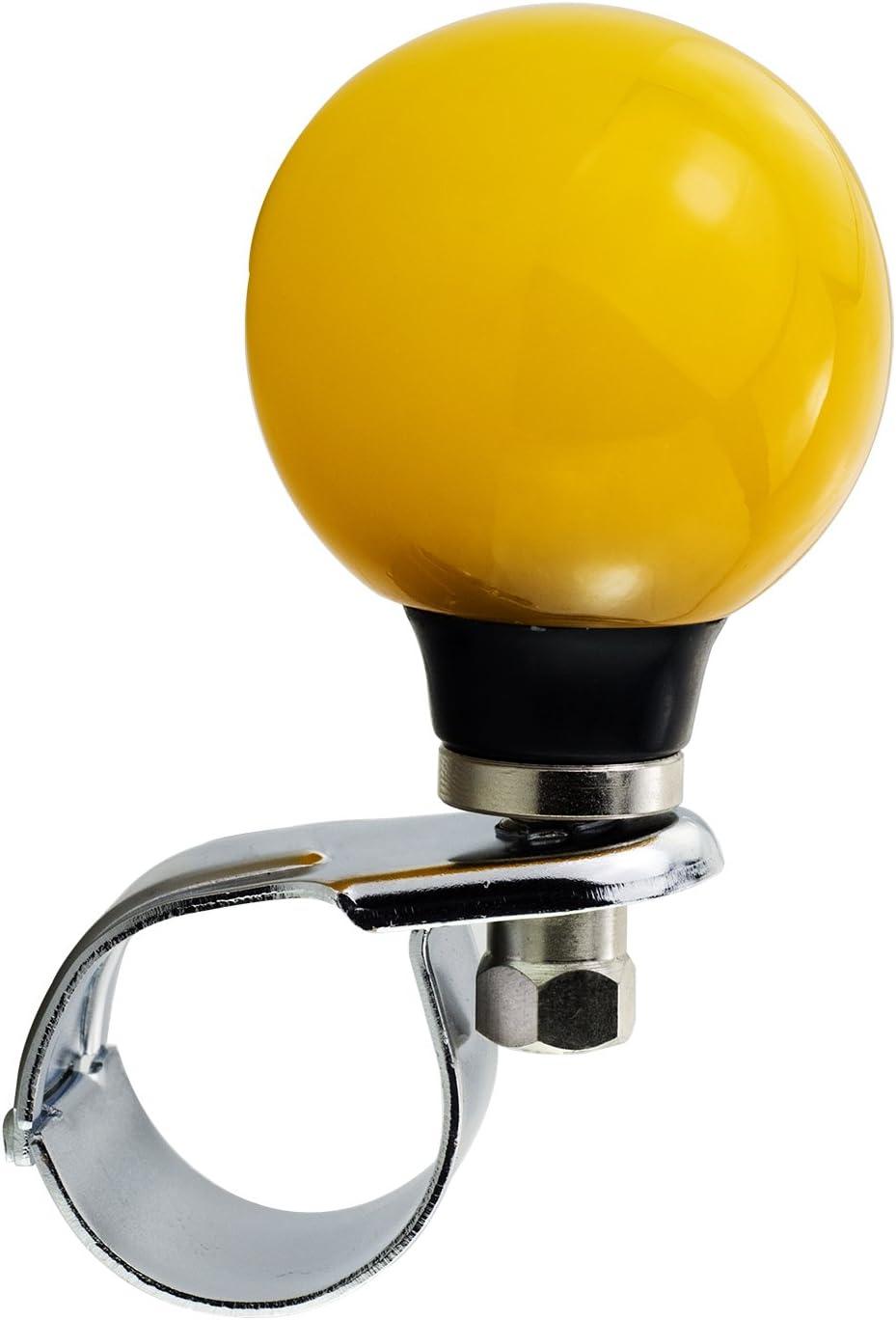 Mavota Knob for Steering Wheel Spinner for Steering Wheel for Trunk//Bus//Sedan//SUV//Ship Or More Yellow